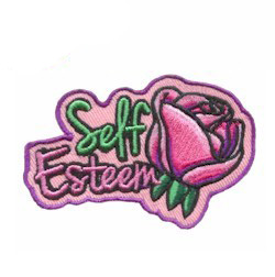 girl scout self esteem patch $.69 each, free shipping available