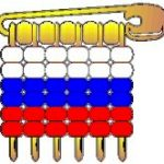 Russia Pony Bead Flag Pin