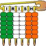Irish Pony Bead Flag Pin