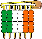 Irish Pony Bead Flag Pin
