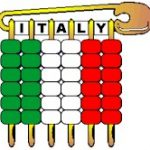 Italy Pony Bead Flag Pin SWAPs