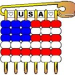 USA Pony Bead Flag Pin SWAPs