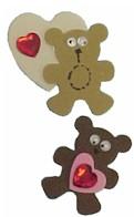 Foamie Brownie Bear Pin