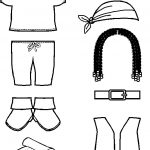 Pirate Paper Doll Friends costume outlines