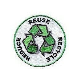 Girl Scout Reduce Reuse Recycle Fun Patch