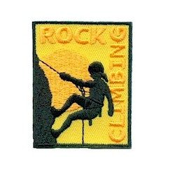 Girl Scout Rock Climbing Fun Patch
