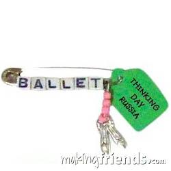 Russia Ballet Slippers Girl Scout Friendship SWAP Kit via @gsleader411