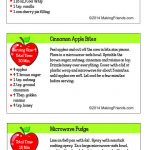 Junior Girl Scout Simple Meals Recipe Cards