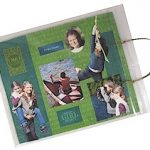 Zip Bag Scrapbook Sit-Upons