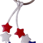 Patriotic Stars Key Ring