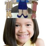 Brownie Girl Scout Crown of Paper Doll Friends