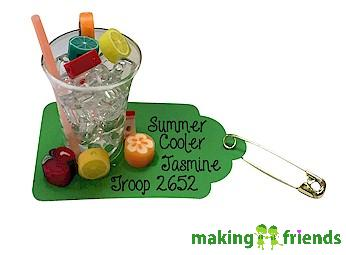 Summer Cooler Friendship Swap Kit via @gsleader411