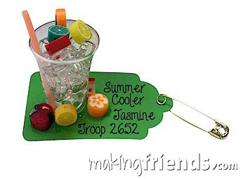 Summer Cooler Girl Scout Friendship SWAP Kit via @gsleader411