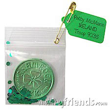 Irish Coin Girl Scout Friendship SWAP Kit via @gsleader411