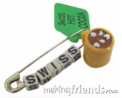 Swiss Cocoa Friendship Swap Kit. The perfect choice for winter or if you are doing Switzerland for Thinking Day*. Kit makes 30 swaps and is available at MakingFriends®.com. Tags and paint are not included. Find a information about Switzerland as well as patches, crafts, passports and more for your international event on our page Switzerland | Ideas for Thinking Day*. via @gsleader411