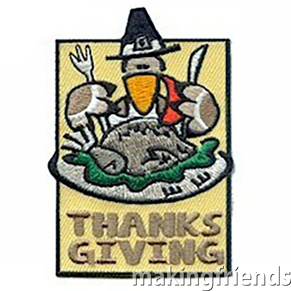 Celebrate Thanksgiving with your troop. Give back to the community and help host aThanksgiving meal. #thanksgiving #makingfriends #funpatch #bethankful #thankful #giveback #family #gsfunpatch #boyscoutpatch via @gsleader411
