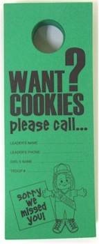 Girl Scout Cookie Door Hanger
