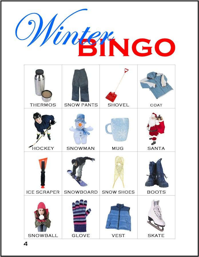 image regarding Winter Bingo Cards Free Printable titled Winter season Bingo - MakingFriends