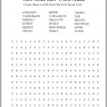 Girl Scout Law Word Search Puzzle