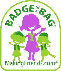 makingfriends.com badge in a bag girl scout kits