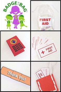 Beginner First Aid Badge in a Bag