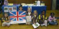 Troop 70954 celebrating England for Thinking Day,