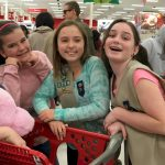 "Cadette Troop 1759 shopping for two girls we adopted from the Salvation Army ""Angel Tree."""