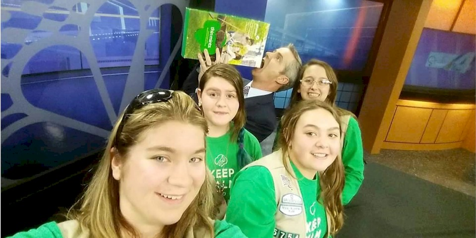 Girl Scout Troop 5754. Cookie Corp! News Channel 4 Amarillo Texas