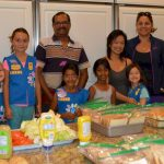 Girl Scout Daisy Troop 62447 was making lunch for the guests of Fisher House in Palo Alto California. Sixty-five people were fed five kinds of sandwiches, pasta salad, fruit salad, homemade cookies and a variety of drinks! Nancy Richardson Teer