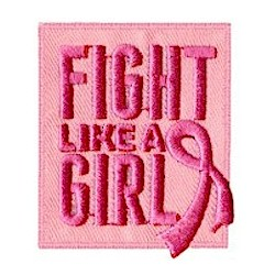 Fight Like a Girl - Breast Cancer Awareness Patch. Juliette Low died of Breast Cancer. Wear this Breast Cancer Awareness patch from MakingFriends®.com in honor of her. via @gsleader411