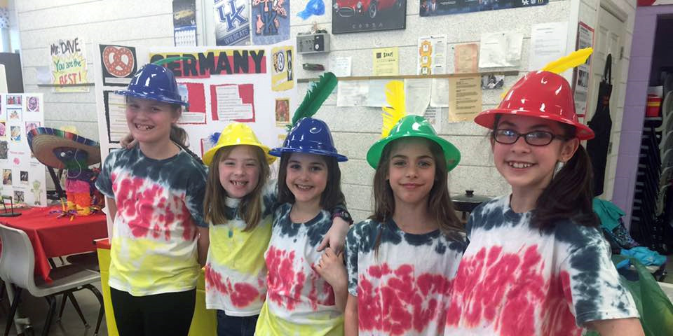 Troop 45868 did Germany for 2015 Thinking day. We tie dyed our shirts the colors of the German flag