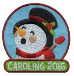 Caroling 2016 Girl Scout Patch