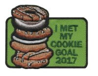 Cookie Goal 2017 Girl Scout Patch
