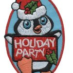 Holiday Party Girl Scout Patch