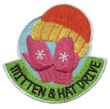 Mitten & Hat Drive Girl Scout Patch