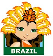 Brazil Patch. You will want to hand out the Brazil patch from MakingFriends®.com when your troop learns about the culture and traditions of Brazil that may include Tupí-Guaraní Indians, Carnival, Samba, Futebol and much more. Find a information about Brazil as well as friendship swap kits, crafts, passports and more for your international event on our page Brazil | Ideas for Thinking Day*. #thinkingday #scouts #patches #makingfriends via @gsleader411