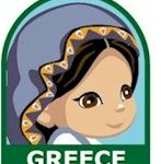 Greece Girl Scout Thinking Day Fun Patch
