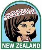 New Zealand Girl Scout Thinking Day Fun Patch