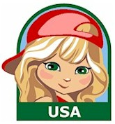 USA Girl Scout Thinking Day Fun Patch