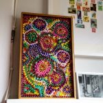Bead Mosaic for Mardi Gras