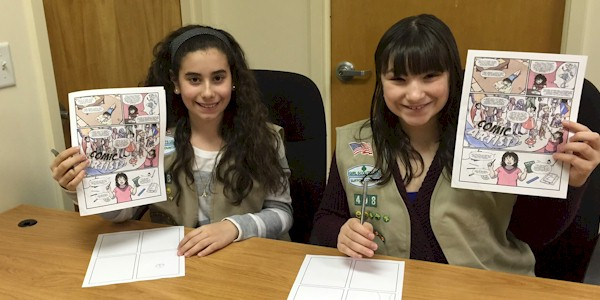 Cadette Girl Scout Comic Artist