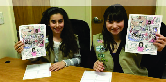 Girl Scout Cadette Comic Artist Badge