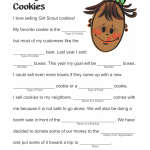 Girl Scout Cookie Mad Libs