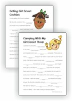 graphic about Camping Mad Libs Printable identified as Totally free Printables - MakingFriends