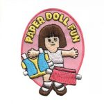 Paper Doll Girl Scout Patch