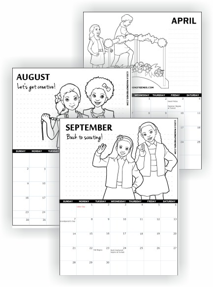 Printable calendars makingfriendsmakingfriends for Girl scout calendar template