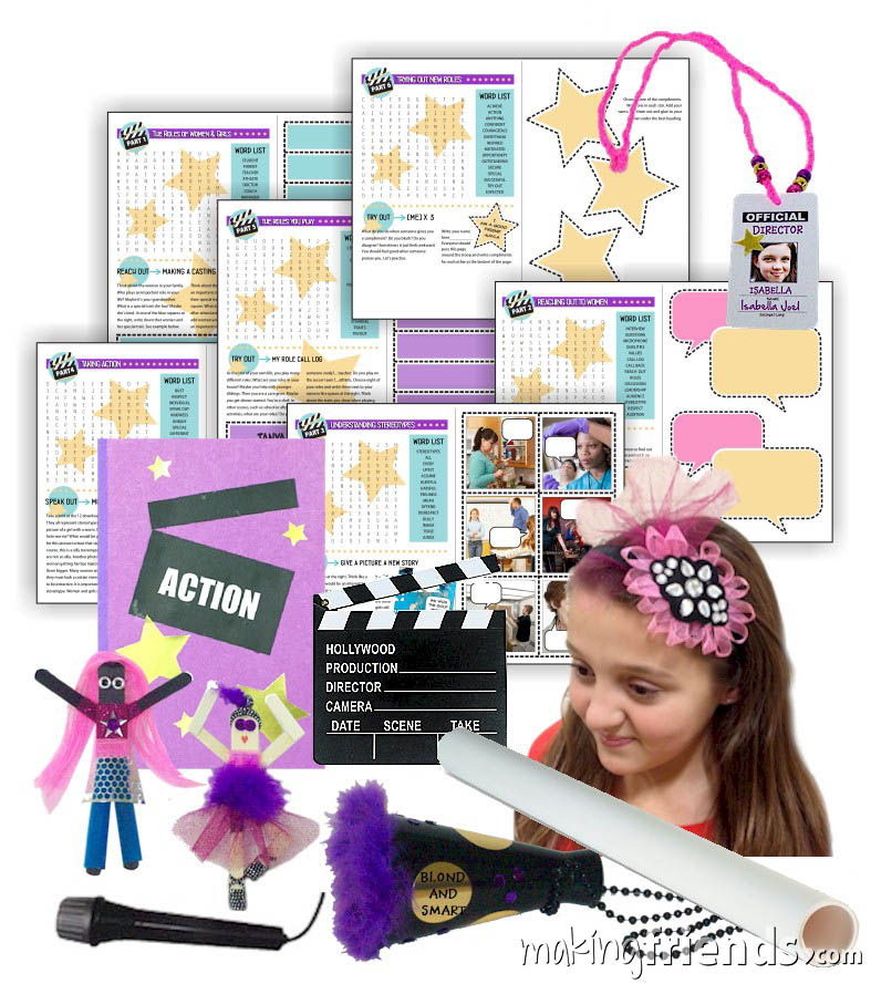 Girl Scout Action Journey Badge in a Bag via @gsleader411