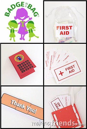 Girl Scout Brownie First Aid Badge in a Bag via @gsleader411