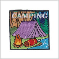 Camping Girl Scout Fun Patch for National Camping Month