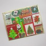 Recycled Christmas Card Placemats